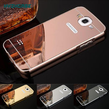 Fashion Rose Gold Silver Black Beauty Frame Mirror Case For Samsung Galaxy Win i8550 Duos 8552 GT-i8552 Shell Back Cover Housing