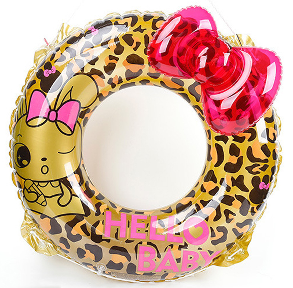 Inflatable-Swimming-Circle-Air-Mattress-Leopard-cute-Float-Seat-Boat-Tube-Ring-Rubber-Swim-Swimming-Pool