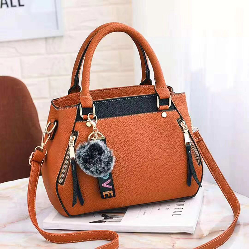 women hairball ornaments totes solid sequined handbag hotsale party purse ladies messenger crossbody shoulder bags 22