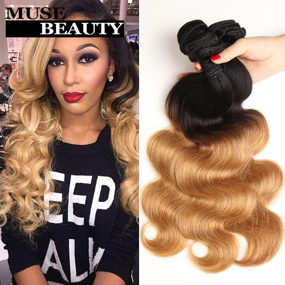 HOT Ombre Peruvian Virgin Hair Body Wave Grade 8A Peruvian Body Wave 3 Bundles Peruvian Human Hair Weave Bundles Macha Hair <br><br>Aliexpress