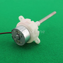 1pc J210 Round White 300 Gear DC Motor Long Blind Hole Shaft fit Solar energy Low Speed and Mute DIY Motor Free Shipping Russia(China)