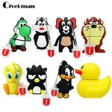 usb flash drive pen drive 64gb duck/frog/lion/cat of Cute Cartoon pen drive 16GB flash memory stick drive u disk pendrive