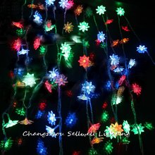 Real Rushed Navidad Great!christmas Lamp Christmas Tree Coloured Light Decoration 2.5m Lotus Led Battery Lighting H058(7)(China)