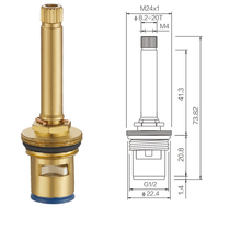 faucet tap parts valve part is made of brass and 73mm at good price and fast delivery(China)