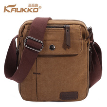 KAUKKO Shoulder Bag Canvas Shoulder Bag Designer Brands Travel Bags Bags for Men School Handbags Cheap Messenger SportBag(China)