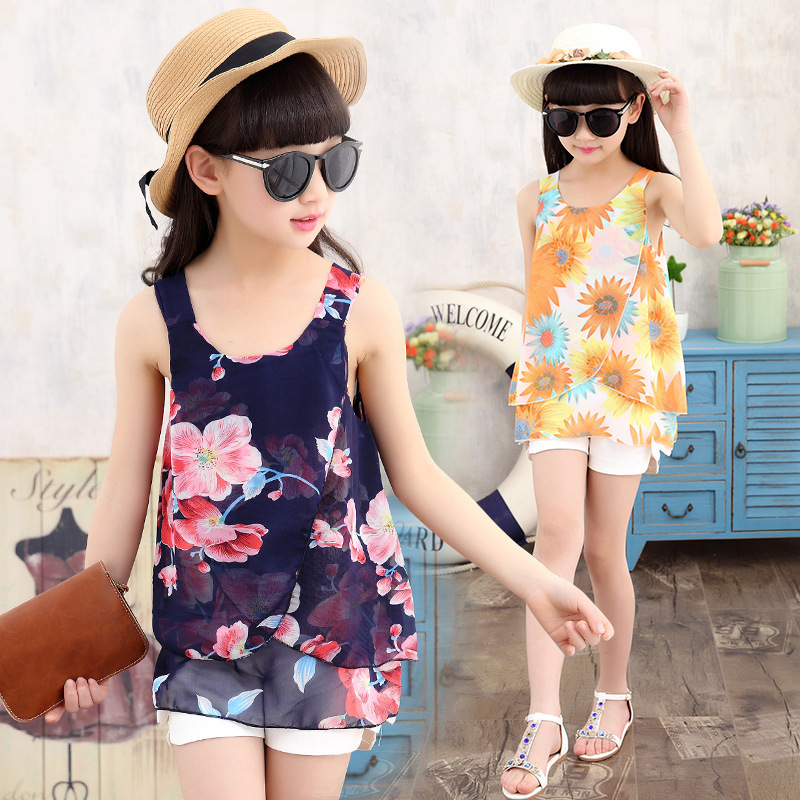 The Child Of 2016 New Summer Girls Pants Suit Vetement Fille Dress<br><br>Aliexpress