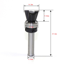 "New 10 Degree 1/4"" Carbide Dovetail Joint Router Bit with Bearing Woodworking Cutter Tool For Home Accessories"