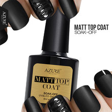 Azure 8ML Matte Top Coat UV Gel Led Top Coat Nail Gel Polish Long Lasting Matt Top Gel Vernish Nail Lacquers Led Lamp Glue
