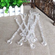 10PCS/LOT  Acrylic Crystal Bead Decoration Chain for Living Room and Bed Room Wedding Party Decor Small Crystal Bead Curtain