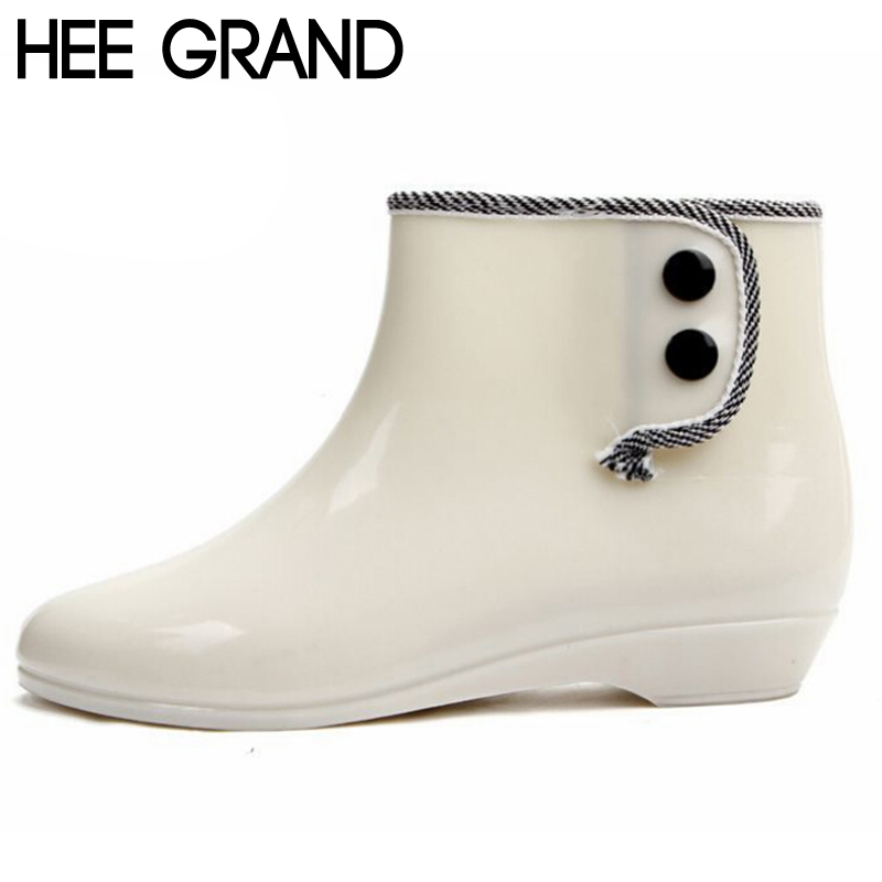 HEE GRAND 2017 New Women Rainboots Rain Rubber Boots Womens Short Waterproof Shoes Warmming Cotton Design Free Shipping XWX476<br><br>Aliexpress