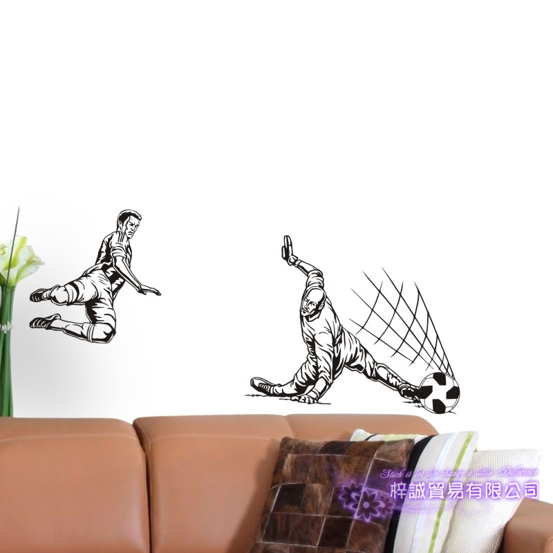 DCTAL Football Player Sticker Football Game  Soccer Decal Helmets Kids Room Posters Vinyl Wall Decals F5