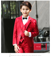 Boys Suits for Wedding Flower Boys Dress Red Formal Blazers Boy Prom Boys Blazer Jackets set