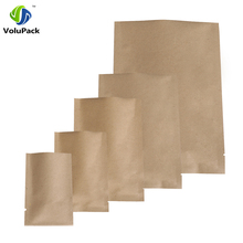 14C Thickness! 100pcs Multi Sizes High Quality Tear Notch Package Bags, Heat Sealing Foil Mylar Open Top Kraft Paper Bag Storage(China)