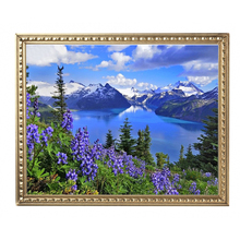Diamond Embroidery Landscapes Lavender And Iceberg DIY 5d Diamond Flowers Pictures Pictures Of Beads Coloring By Numbers