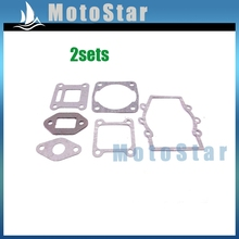2xChinese Minimoto Engine Gasket Kit For 2 Stroke 47cc 49cc Mini Moto Dirt Pocket Bike Baby Crosser Kids ATV Quad 4 Wheeler(China)