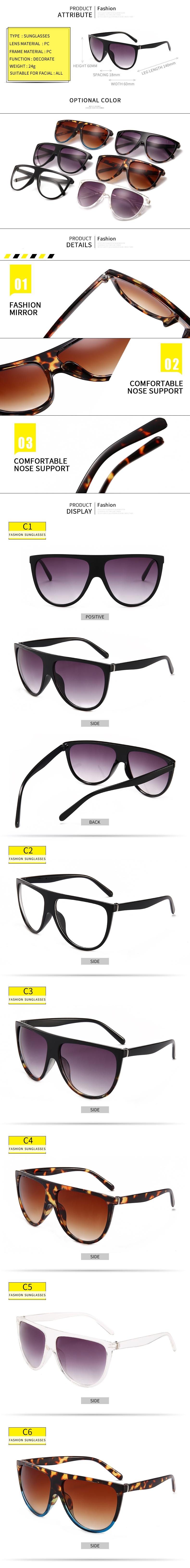 Großhandel Übergroße Quadratische Sonnenbrille Frauen Designer Marke ...