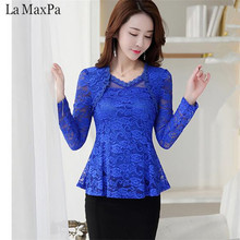 Buy LA MAXPA 2018 Plus Size Women Clothing Spring Lace Shirt Tops Cutout Basic Female Elegant long-sleeve Lace Blouses shirts 4XL for $12.99 in AliExpress store