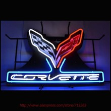 Art Light Corvette C7 Stingray Neon Sign Neon Bulbs Signs Real Glass Tube Handcrafted Decorate Beer Pub Advertise Neon 30x20 VD