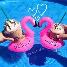 1PC Inflatable Flamingo Coasters Float Pool Floats Toy for Kids Fun Devices Pool Swimming Floatation Party Decoration