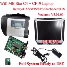 Wifi Diagnostic Tool MB Star C4 SD Connect + V2017.12 Xentry System with CF19 Laptop Multi-language Star Diagnosis SD Connect C4(China)