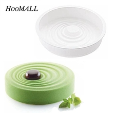 Hoomall Silicone Cake Mould Round Corrugated Ripple White Mousse Cake Molds Pastry Desserts Decoration Baking Tools For Ktichen(China)