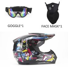 OUTAD 3PCS/SET Breathable Motorcycle Helmet Lightweight Full Face Racing Bicycle Safety Unisex ABS Shell Cycling bike Helmet(China)