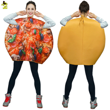2017 Adult Pizza Mascot Costume Cosplay Funny Emoji Sponge Clothes Fancy Dress In Christmas Cool Costume Suit For Adults(China)