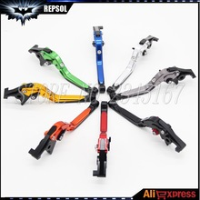 Eight Colors Motorcycle Folding Extending Brake Clutch Levers for Almost Kawasaki Motorbike Models Gold RED SILVER BLACK ORANGE