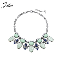 JOOLIM  Vintage Light Green Tangier Collar Necklace Choker Necklace  Clothes Accessories Free Shipping