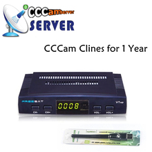 CCCAM Clines for 1 Year Freesat V7 Spain Europe Portugal Satellite Receiver FTA DVB-S2 Support Powervu Youporn USB Wifi Dongle