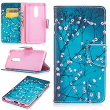 10 Patterns for Nokia 5 Case 5.2'' Cartoon Flower Giraffe Life Tree Butterfly Leather Phone Capa Cover for Nokia 5 Nokia5 Case(China)