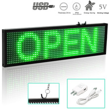 P5 SMD LED Message Display Board Green Easy-Install Mobile phone Wifi Programmable Scrolling  Advertising Moving LED Signs