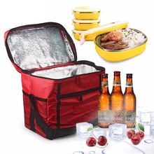 Thermal Insulated Lunch Storage Cooler Bag Portable Milk Ice Box For Travel Camping Outdoor Picnic Lunch Bag(China)