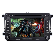 Aftermarket Universal Radio DVD Player 7 inch 2 Din GPS Navigation Car Stereo for 2011-2012 VW Volkswagen LAVIDA SD Support Aux