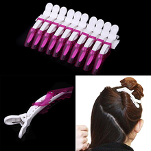 10Pcs Crocodile Shark Clamp Cosmetic Transparent Crystal Section Hair Clip(China)