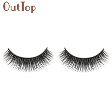 GRACEFUL Natural Long Beauty Dense A Pair False Eyelashes Attractive Black Fibre Eyes Lashes for Party Date JUN6