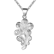 Beautiful design silver flower pendant necklace fashion jewelry beautiful Gifts for women necklace good quality low price AN184