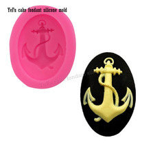 Cartoon Anchor Rudder Wheel Ship Shape Silicone Mold Fondant Cookie Baking Chocolate Mold Cake Decorating Tools F0906(China)