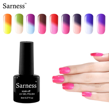 sarness Temperature Change Color UV Gel Polish Nail Products Hot Sale 29 Colors Choose Any 1pcs Arte Professional nail gel