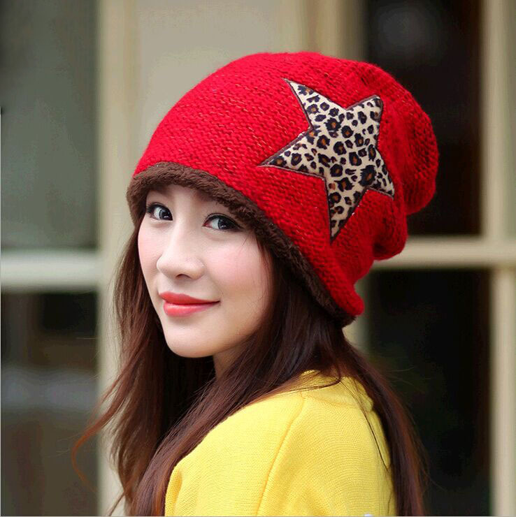 The new set of head cap Womens winter warm hat Knitting wool hat ear protectionÎäåæäà è àêñåññóàðû<br><br><br>Aliexpress