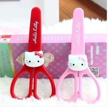 Kawaii Hello Kitty Minions School Kid's Stationery Scissors Paper Cut Baby Kid's Student Safe Scissors Knives Cutters Forfex