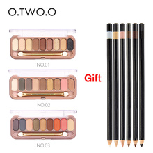 O.TWO.O Buy 3 Get 1 Gift 3pcs/set 9colors Eye shadow Get a gift Palette Eyeshadow With Brush Make Up Eye Shadow For Women Girl(China)