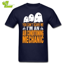 You can't Scare Me I Am Air Conditioning Mechanic T Shirt Adult Tshirts Leisure T-Shirt Man Summer O Neck Team Dad Clothes(China)