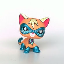 LPS masked super hero kitty animal toys Comic Con Kitten short hair kitten animal pet