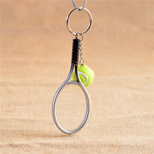 New Arrival Tennis racket and Ball Pendant Keychain For Women Men Bag Car Keyring Accessories Gifts(China)