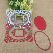 Hollow Frame Flower Border Metal Cutting Dies Stencil for DIY Scrapbooking Birthday Photo Album Decorative Embossing Paper Card(China)