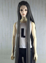 doll accessories large 1/3 1/4 Bjd wig doll hair male boy ultra long straight hair middle parting retro fancy fiber- ga25(China)