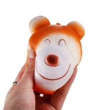 New Arrival 10.5cm Soft Cute Bear Head Shape Squishy Slow Rising Cream Scented Kids Toys Best Gift Present For Child