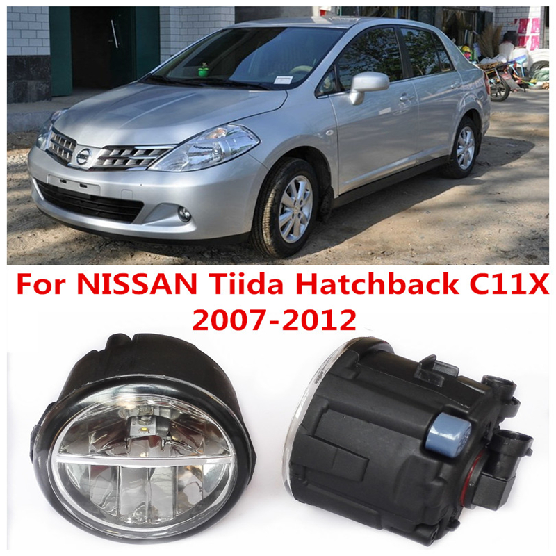6000K  10W White High Brightness For NISSAN Tiida Hatchback C11X 2007-2012 Car Styling Front Bumper LED Fog Lights Lamps DRL<br><br>Aliexpress