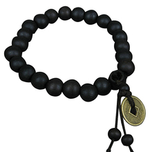 New Arrival Wood Buddha Buddhist Prayer Beads Bracelet Copper Coin Bangle Wrist Ornament